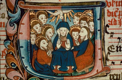 Image result for pentecost & mary, english art