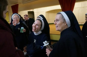 Mother Mary Bernadette and the Queenship of Mary sisters are very supportive of us and a blessing for Ottawa.
